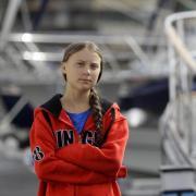 Greta Thunberg kurz vor dem Start der Atlantiküberquerung in Plymouth. Foto: Kirsty Wigglesworth/AP