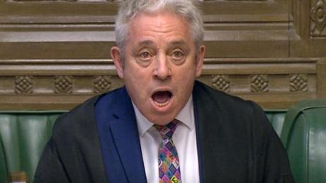 Das Parlament ist laut Parlamentspräsident John Bercow in der Lage, einen Brexit ohne Abkommen zu verhindern..