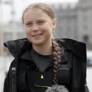 Greta Thunberg bei einer Pressekonferenz vor der Abfahrt in Plymouth. Foto: Kirsty Wigglesworth/AP
