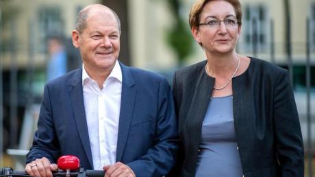 Kandidatenduo für den SPD-Vorsitz: Olaf Scholz und Klara Geywitz. Foto: Monika Skolimowska