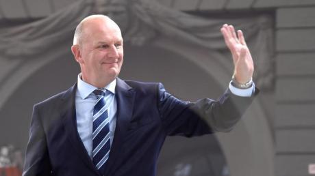 Dietmar Woidke (SPD), Ministerpräsident von Brandenburg, verteidigttrotz aller Verluste Platz eins bei der Landtagswahl. Foto: Monika Skolimowska