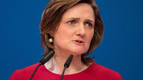 Harte Worte in Richtung Olaf Scholz:Simone Lange, Oberbürgermeisterin von Flensburg und Kandidatin für den SPD-Parteivorsitz.