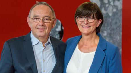 Norbert Walter-Borjans, ehemaliger Finanzminister von Nordrhein-Westfalen, und Saskia Esken, Bundestagsabgeordnete.