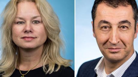 Kirsten Kappert-Gonther und Cem Özdemir wollen für den Fraktionsvorsitz der Grünen im Bundestag kandidieren.