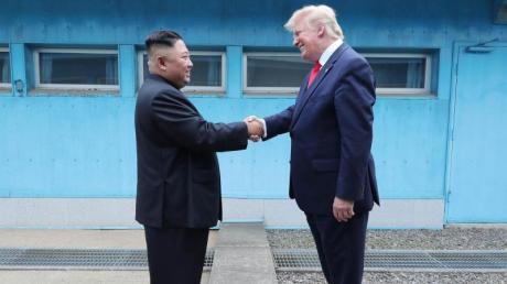 Kim Jong Un und Donald Trump hatten Ende Juni bei einem kurzen Treffen an der innerkoreanischen Grenze Verhandlungen vereinbart.