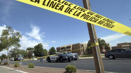 Anfang August: Ein Absperrband der Polizei vor dem Ort des Massakers im texanischen El Paso.