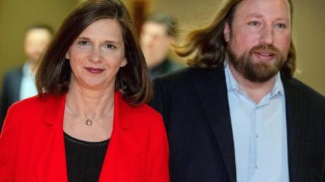 Sie wollen an der Spitze der Bundestags-Grünen bleiben und diese in die nächste Regierung führen: Anton Hofreiter und Katrin Göring-Eckardt.