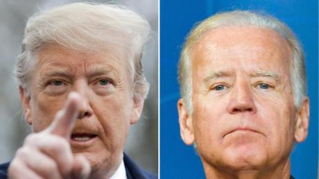 Bei der US-Wahl 2020 wird Donald Trump (links) von Joe Biden herausgefordert. In diesem Artikel finden Sie aktuelle Umfrage-Ergebnisse.