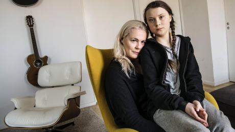 Lange war die Mutter das berühmte Gesicht der Familie: Opernsängerin Malena Ernman mit ihrer Tochter Greta Thunberg im April 2018, bevor die junge Schwedin zur berühmten Aktivistin wurde.