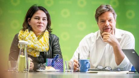 Erfolgsduo: Die Grünen-Vorsitzenden Robert Habeck und Annalena Baerbock. Foto: Michael Kappeler