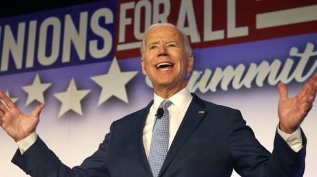 Joe Biden bewirbt sich um die Präsidentschaftskandidatur der Demokraten für die Wahl 2020. Foto: Ringo H.W. Chiu/FR170512 AP/dpa