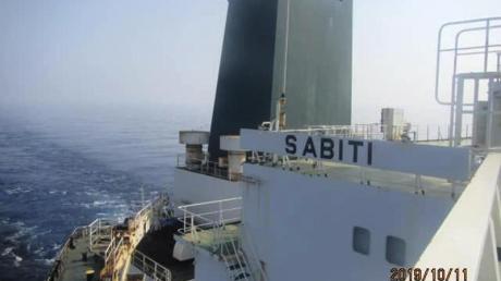 Im Roten Meer vor Saudi-Arabien ist es nach Angaben des iranischen Ölministeriums zu einer Explosion auf dem iranischen Öltanker «Sabiti» gekommen. Foto: Iranian Oil Ministry/SHANA/AP/dpa