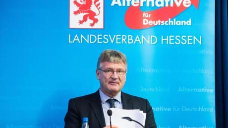 Jörg Meuthen am Samstag beim Landesdelegiertenparteitag der AfD Hessen.