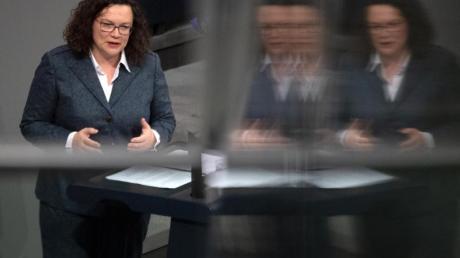 Andrea Nahles war mit einer Unterbrechung seit 1998 im Bundestag.