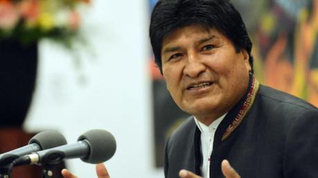 Boliviens Präsident Evo Morales während einer Pressekonferenz in La Paz. Foto: Diego Valero/ABI/dpa