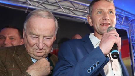 «Herr Höcke ist die Mitte der Partei», sagt AfD-Chef Alexander Gauland über den Thüringer Parteifreund Björn Höcke (r.), den Gründer des rechtsnationalen «Flügels» in der AfD.
