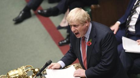 Premier Boris Johnson spricht im britischen Unterhaus. Foto: Uk Parliament/Jessica Taylor/AP/dpa