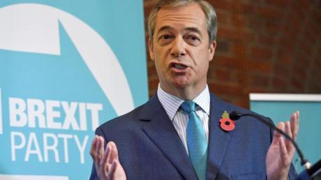 Nigel Farage, Vorsitzender der Brexit-Partei, lehnt einen Deal mit der EU ab.