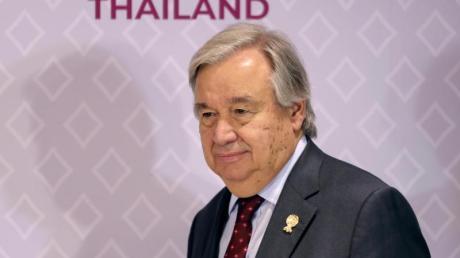 UN-Generalsekretär António Guterres beim Gipfel der Staats- und Regierungschefs der südostasiatischen Staatengemeinschaft(Asean). Foto: Aijaz Rahi/AP/dpa