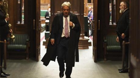 John Bercow hatte am 31.10.2019 seinen letzten Tag im Amt. Heute entscheiden die Abgeordneten in London über seinen Nachfolger. Foto: Uk Parliament/Jessica Taylor/UK Parliament/Jessica Taylor/AP/dpa