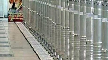 Zentrifugen in der Atomanlage in Nathans. Foto: Iranian State Television Irib //epa/dpa