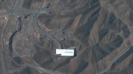 Satellitenbild der iranischen Atomanlage Fordo, nördlich der heiligen Stadt Qom. Foto: Satellite image ©2019 Maxar Technologies/AP/dpa