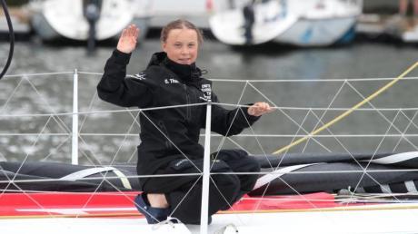 Will auf einem Katamaran von der Ostküste der USA zur UN-Klimakonferenz in Madrid segeln: Klimaaktivistin Greta Thunberg. Foto: Mary Altaffer/AP/dpa