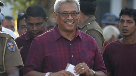 Der frühere Verteidigungsminister Gotabhaya Rajapaksa wird neuer Präsident von Sri Lanka.