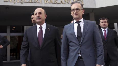 Heiko Maas und Mevlüt Cavusoglu Ende Oktober bei einem Treffen in Ankara.