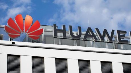 Blick auf die Huawei-Deutschland-Zentrale in Düsseldorf.
