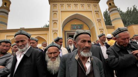 Uiguren in Kashgar im Nordwesten Chinas.