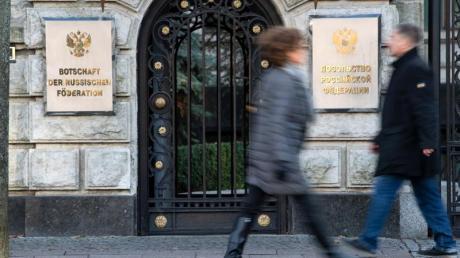 Russische Botschaft in Berlin-Mitte: Der mutmaßliche Auftragsmord an einem Georgier hat eine diplomatische Krise zwischen Deutschland und Russland ausgelöst.