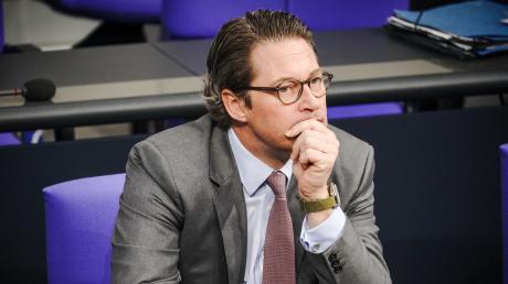 CSU-Verkehrsminister Andreas Scheuer drohen viele unangenehme Nachrichten aus demUntersuchungsausschuss zur Pkw-Maut-Affäre