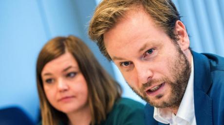 Grünen-Spitzenpersonal in Hamburg: Bürgermeisterkandidatin Katharina Fegebank und Fraktionschef Anjes Tjarks.