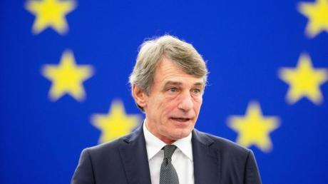 David Sassoli, Präsident des Europäischen Parlaments, spricht während einer Plenarsitzung.