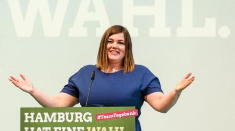 Grünen-Spitzenkandidatin Katharina Fegebank: «Grün-Rot ist eindeutig mein Favorit.».