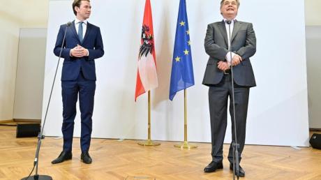 ÖVP-Chef Sebastian Kurz (l.) und Grünen-Chef Werner Kogler regieren künftig gemeinsam.