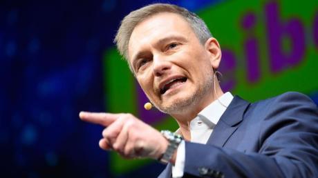 Agriffslustig:FDP-Chef Christian Lindner während des Dreikönigstreffens im Stuttgarter Opernhaus.