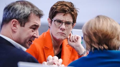 Die starken Köpfe der Union: Markus Söder, Annegret Kramp-Karrenbauer und Angela Merkel (von links).