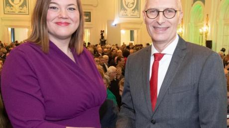 Für den Hamburger Bürgerschaftswahlkampf zeichnet sich ein Duell der Spitzenkandidaten von SPD und Grünen, Peter Tschentscher und Katharina Fegebank, ab.