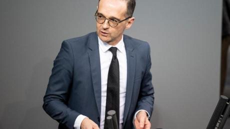 Außenminister Heiko Maas spricht im Bundestag zur Lage im Nahen und Mittleren Osten.