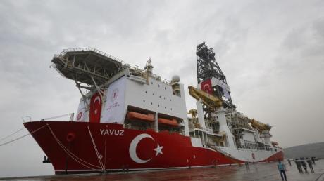 Das türkische Bohrschiff «Yavuz»: Der Gasstreit mit Zypern im Mittelmeer führt jetzt zu einer Kürzung der EU-Beitrittshilfen.