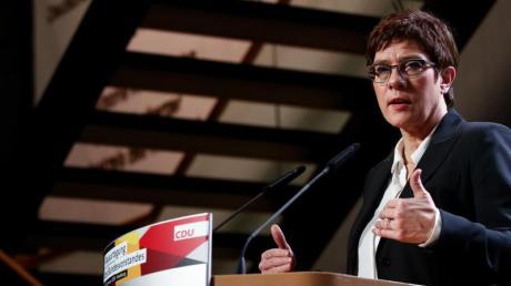 CDU-Chefin Annegret Kramp-Karrenbauer bei der Vorstandsklausur: Mutmaßungen über einen sich anbahnenden Streit zwischen CDU und CSU entbehren jeder Grundlage.