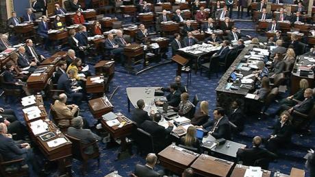 Abstimmung im US-Senat: Nach einer fast 13-stündigen Debatte wurde das Prozedere für das Amtsenthebungsverfahren gegen US-Präsident Trump festgelegt.