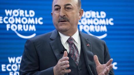 Der türkische Außenminister Mevlüt Cavusoglu beim Weltwirtschaftsforum inDavos.