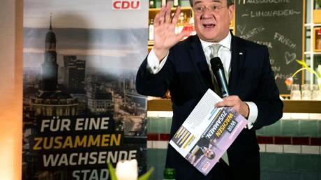 Armin Laschet spricht bei einer Wahlkampfveranstaltung der CDU.