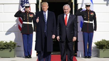 Donald Trump empfängt Benjamin Netanjahu am Weißen Haus.