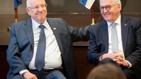 Beim Schulbesuch: Israels Präsident Reuven Rivlin und Bundespräsident Frank-Walter Steinmeier im Jüdischen Gymnasium Moses Mendelssohn in Berlin.