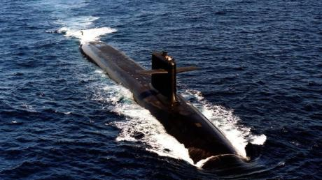 Das Archivfoto zeigt ein französisches Atom-U-Boot.