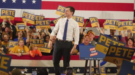 Der demokratische Präsidentschaftskandidat Pete Buttigieg bei einer Wahlkampfveranstaltung in Des Moines.